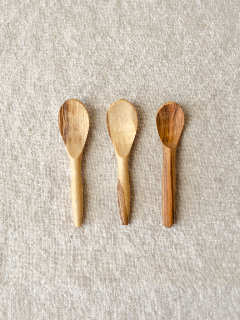 Olive Wood Salt Spoon