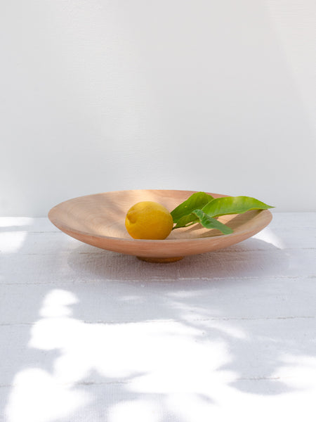 Shallow Maple Serving Bowl
