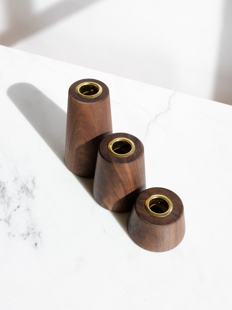 Black Walnut Candle Holders