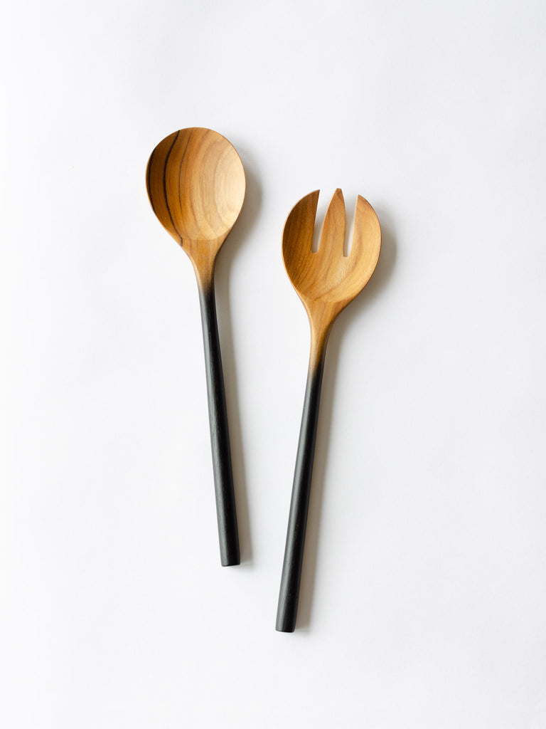 Teak Ombre Serving Set