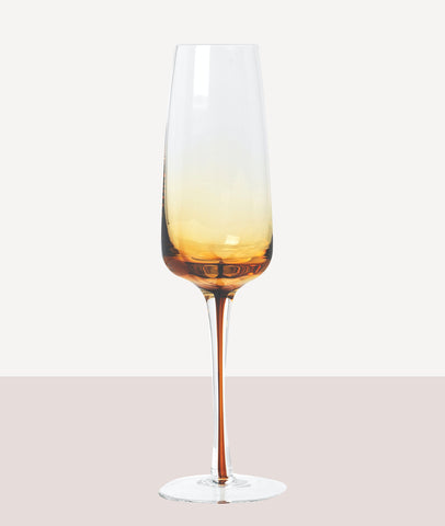 Amber Champagne Glass / Set4