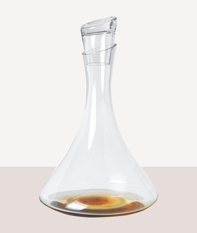 Amber Decanter w/Lid