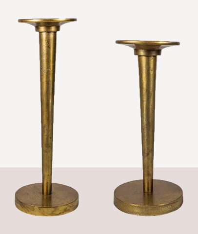 Amerie Slender Candlestick / Antique Gold