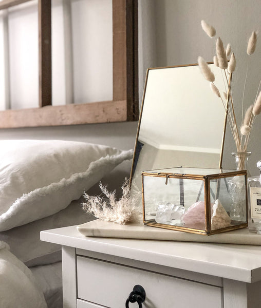 Sofia Mirror and Glass Rectangle Jewellery Box