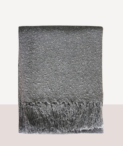 Boucle Throw / Gunmetal