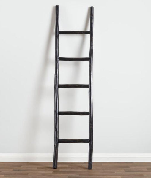 Chunky Wood Ladder / Black