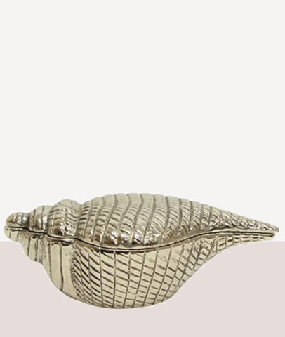 Conch Shell Trinket Box / Silver