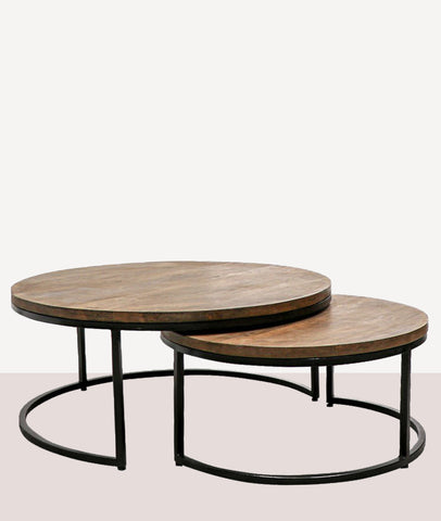 Douglas Nesting Coffee Tables / Wood & Steel