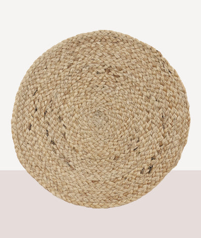 Durry Jute Round Placemat / Natural