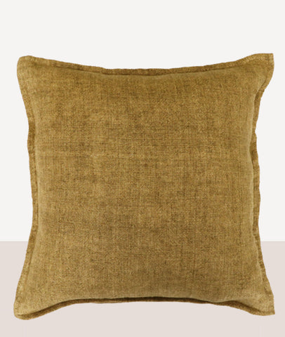 Flaxmill Cushion W/Feather Inner / Fenugreek