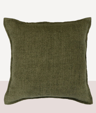 Flaxmill Cushion w/Feather Inner / Winter Moss