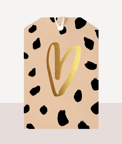 Leopard Heart / Gift Tag