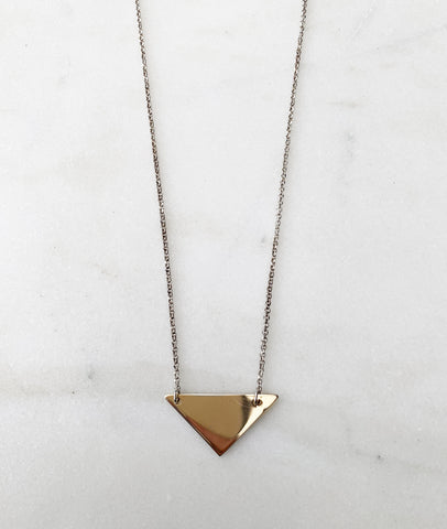 Gold Triangle Necklace / Turner House