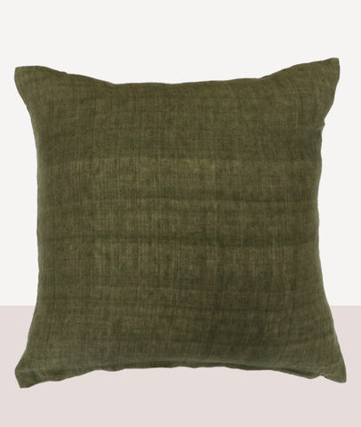 Indira Cushion w/Feather Inner / Military