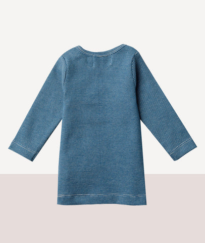 Organic Rib Long Sleeve Top / Ink Blue  / Wilson & Frenchy