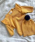 Knitted Ruffle Jumper / Golden Apricot