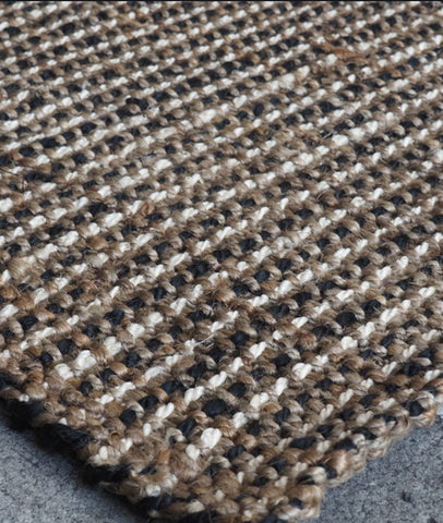 Jute Boucle Rug / Black & Natural / ASSORTED SIZES