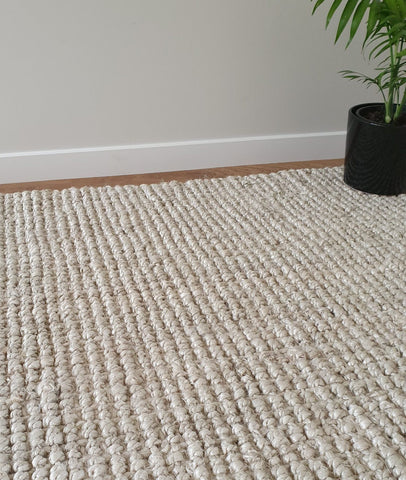 Jute Boucle Rug / Washed White