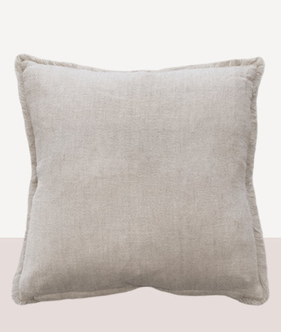 Keaton Cushion w/Feather Inner / Cream