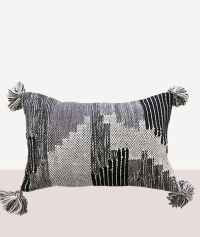 Keita Cushion W/Feather Inner / Grey/Charcoal