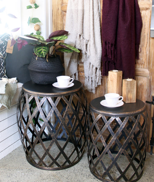 Lamai Side Table / Burnt Gold *Due December
