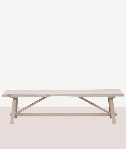 Loire Bench Seat / White Wash