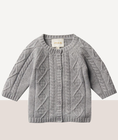 Luxe Wool Cable Knit Cardigan  / Wilson & Frenchy