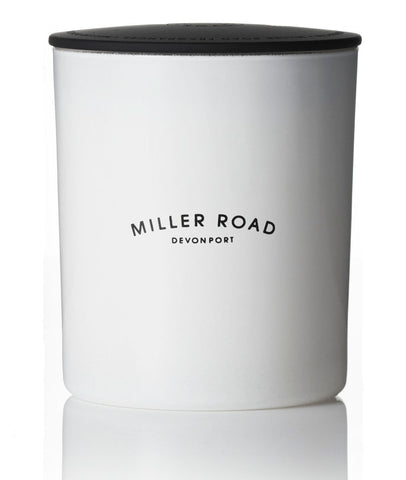Miller Road Luxury Candle / White + Black Lid