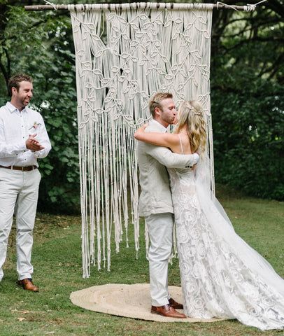 Botanic Macrame Backdrop on Driftwood / FOR HIRE ONLY