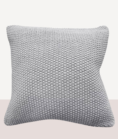 Milford Moss Stitch Cushion w/Feather Inner / Concrete