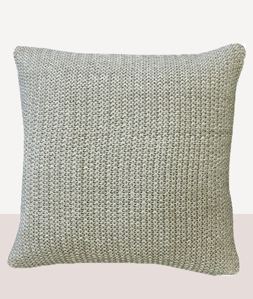 Milford Moss Stitch Cushion w/Feather Inner / Natural Stone