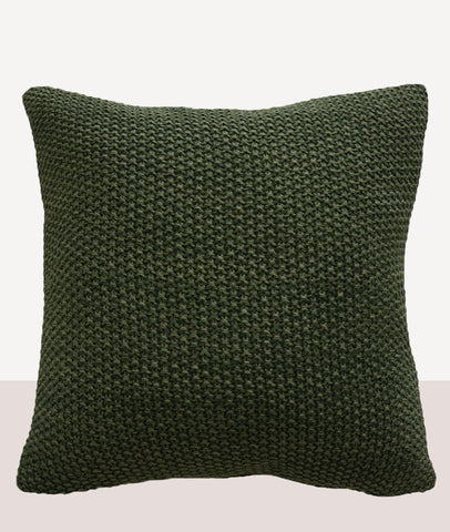 Milford Moss Stitch Cushion w/Feather Inner / Spruce