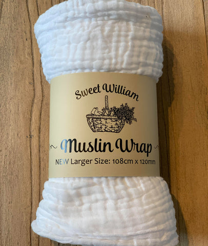 Baby's Muslin Swaddle / XL / Sweet William