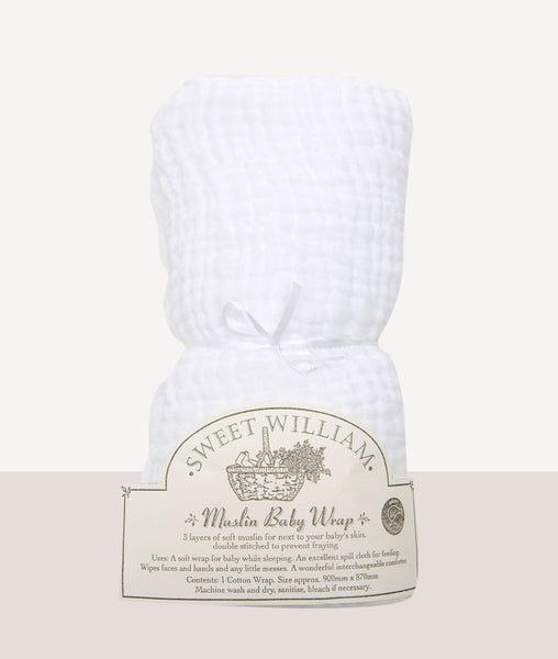 Baby's Muslin Wrap / Sweet William