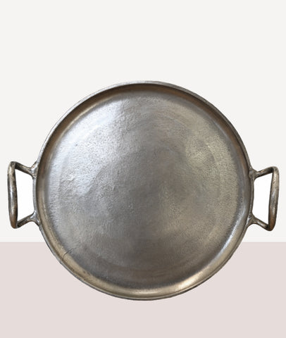 Round Tray / Antique Nickel