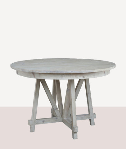 Normanby Round Dining Table / White Wash