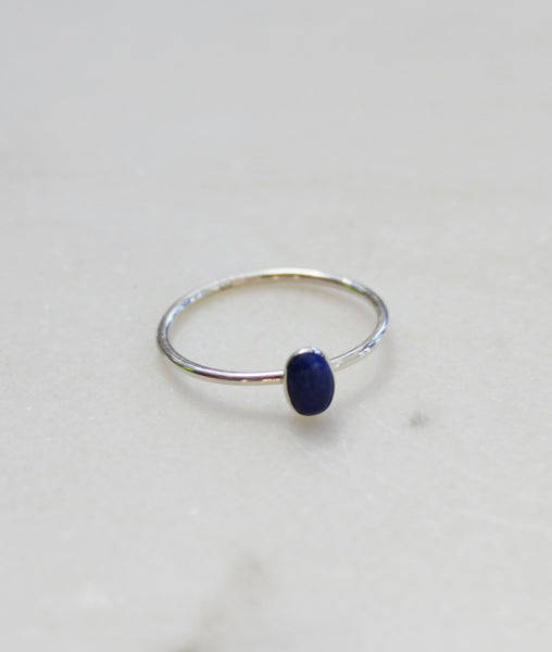 Silver Oval Lapis Ring / Turner House