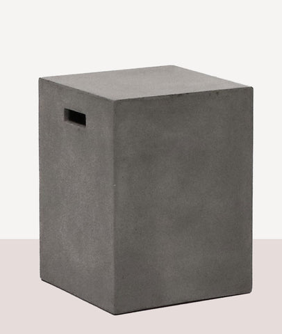 Pipe Stool Rectangle / Concrete