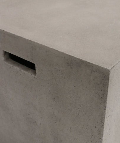 Pipe Stool Square / Concrete