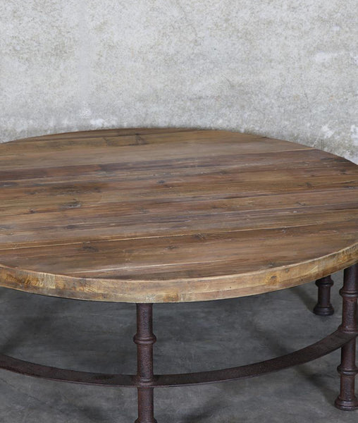 Provincial Iron & Pine Coffee Table