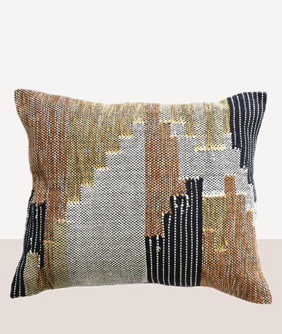 Puebla Cushion w/Feather Inner / Ochre Tan