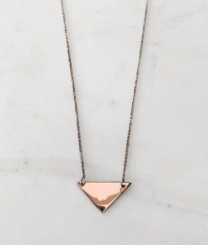 Rose Gold Triangle Necklace / Turner House