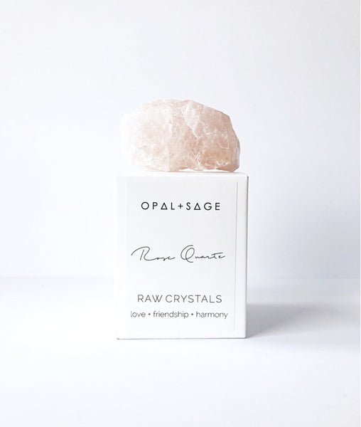 Rose Quartz Crystal / Opal & Sage