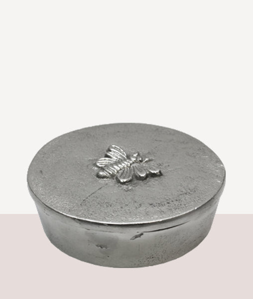 Silver Bee Trinket Box