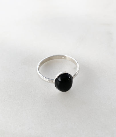 Silver Onyx Ring / Turner House