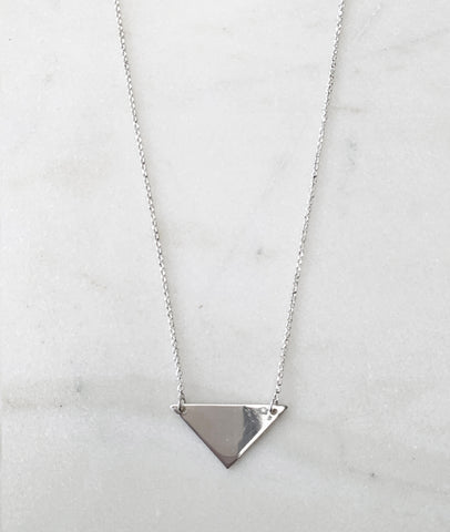 Silver Triangle Necklace / Turner House