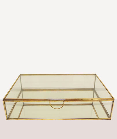 Sofia Mirror and Glass Flat Jewellery Box