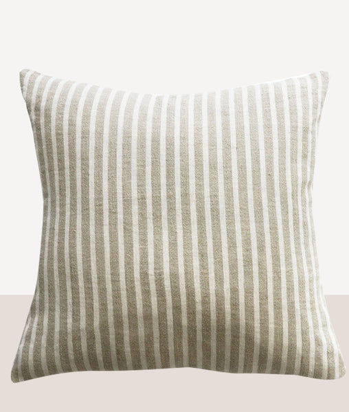 Spencer Cushion w/Feather Inner / Ivory & Natural