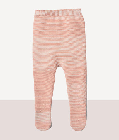 Knitted Footed Legging / Strawberry & Cream  / Wilson & Frenchy