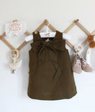 Tinker Bow Dress / Dark Olive / Baby Charley Co